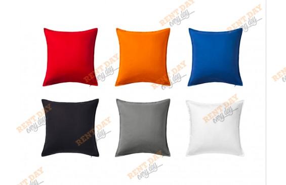 Подушки микс цвета в аренду
