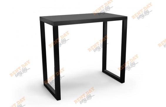 П-образный черный барный стол