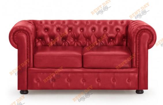 Красный Диван Честерфилд в аренду