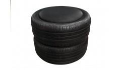 Пуфик из шин черный