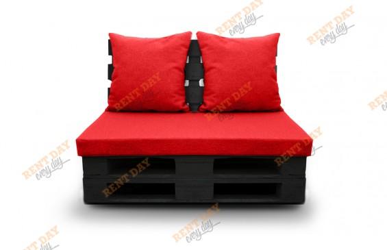 Кресло из паллет черное