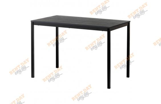 Черный выставочный стол в аренду