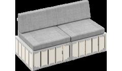 Модульный диван БОКС 160х80
