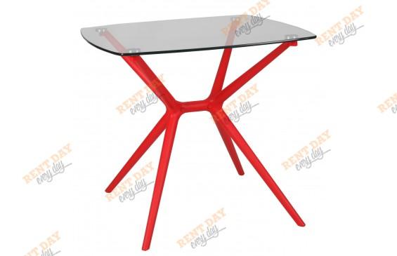 Красный стол для кафе в аренду
