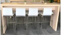 """Большой барный стол """"беленый дуб"""""""