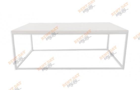 Прямоугольный белый журнальный стол в аренду
