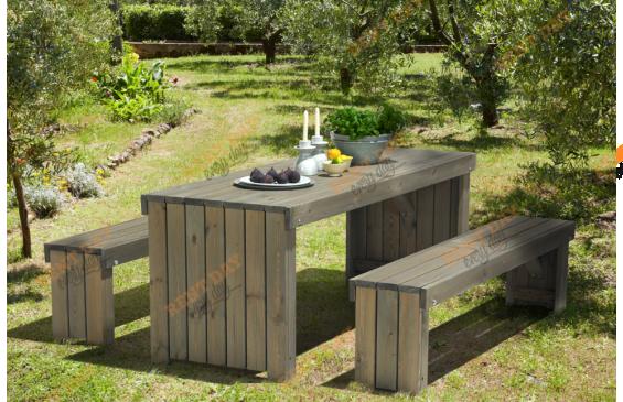 Садовый стол и скамья