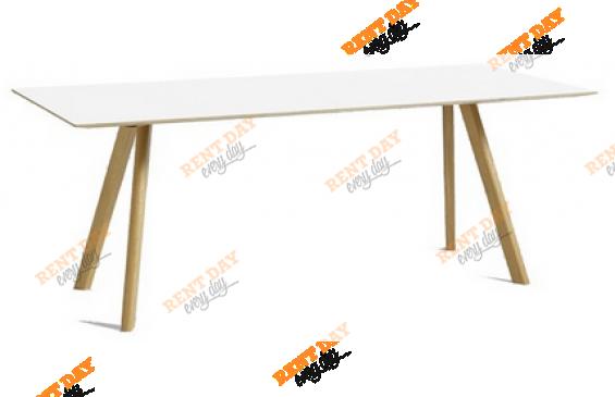 Белый стол для конференции в аренду