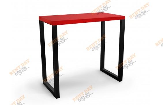 П-образный черно-красный барный стол