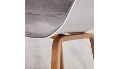 Wood Gray & white