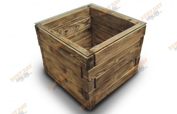 Журнальный стол деревянный куб в аренду