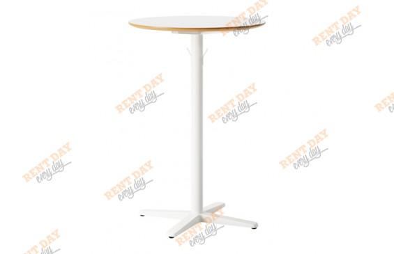 Белый коктейльный стол в аренду
