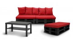 Прямой диван из паллет