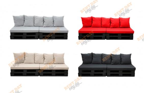 Прямой диван из паллет  в аренду