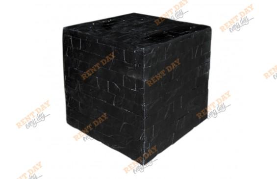 Куб черный декоративный большой в аренду