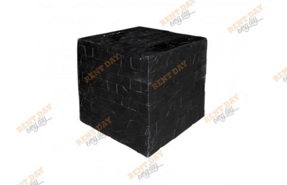 Куб черный декоративный малый в аренду