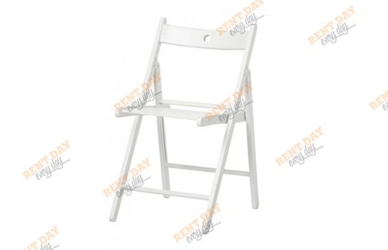 Белый складной стул в аренду