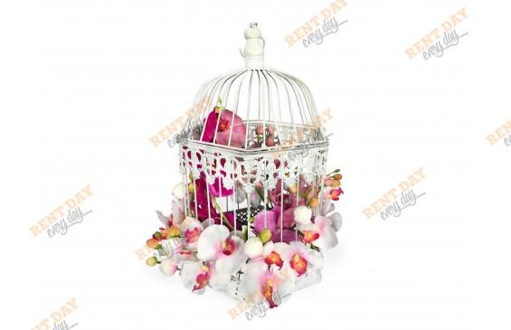 композиция №5. Клетка с орхидеями. в аренду