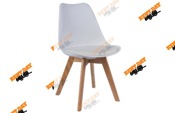 Wood White / Белый дизайнерский стул в аренду