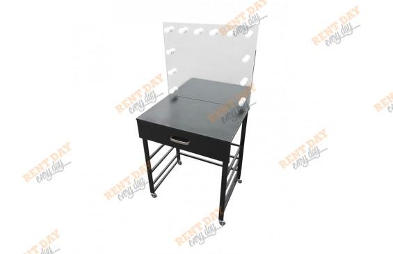 Черный гримерный стол в аренду