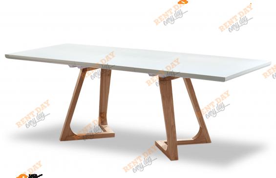 Стол белый обеденный в аренду