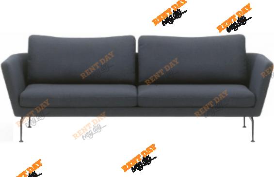 Текстильный серый диван в аренду