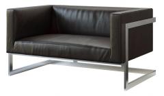 Двухместный диван Andrian Black