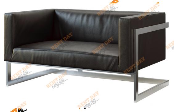 Двухместный диван Andrian Black в аренду