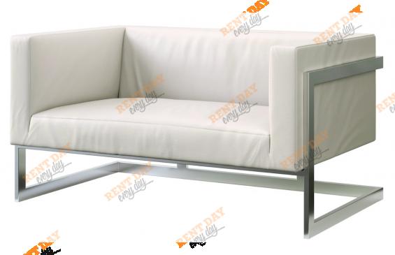 Двухместный диван Andrian White в аренду