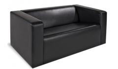 Двухместный черный диван