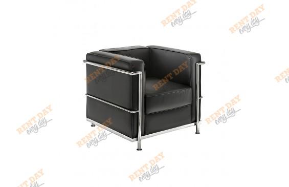 Кресло в президиум Chrome Black в аренду