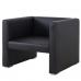 Компактное черное кресло в аренду