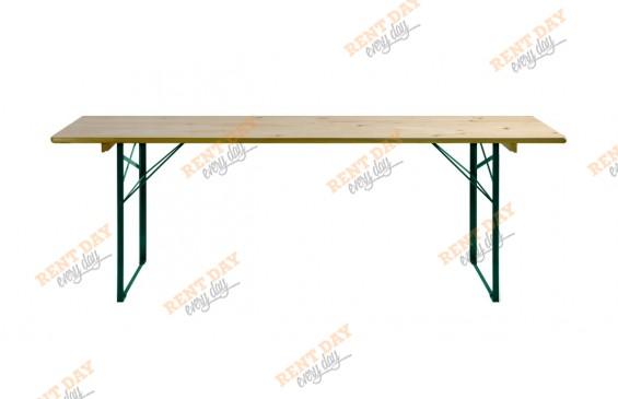 Складной деревянный стол в аренду