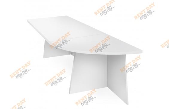Белый модульный стол в аренду