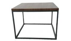 Квадратный темный журнальный стол