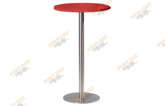 Стол коктейльный базовый красный в аренду