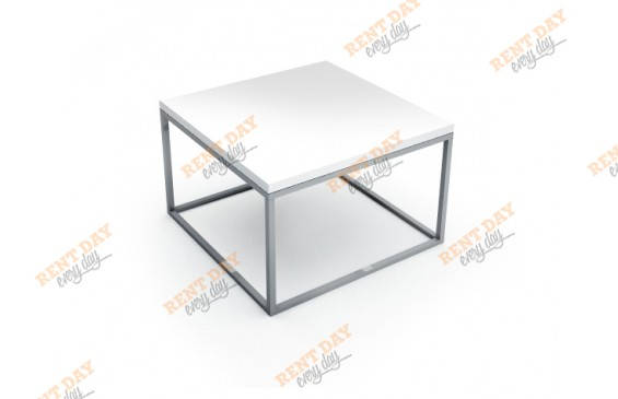 Шахматы журнальный стол белый в аренду