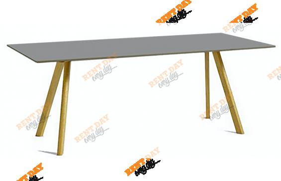 Серый стол для конференций в аренду