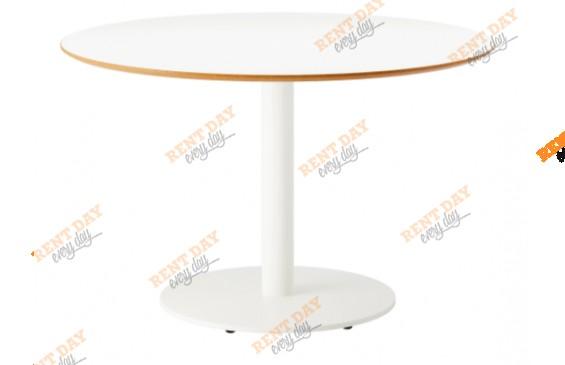 Белый круглый стол в аренду