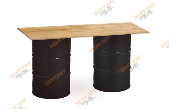 Фуршетный стол из двух бочек в аренду