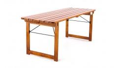 Складной деревянный стол орех