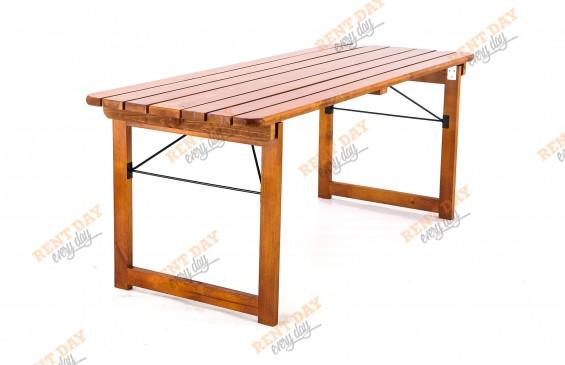 Деревянный складной стол орех  в аренду