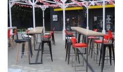 Мягкий барный стул  GOAL RED