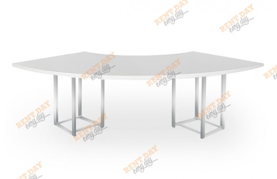 Большой стол WHITE WAVE в аренду