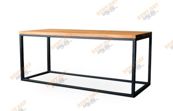 Прямоугольный стол-скамья ЛОФТ в аренду
