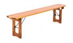 Деревянная складная скамья орех