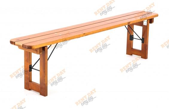 Деревянная складная скамья орех в аренду