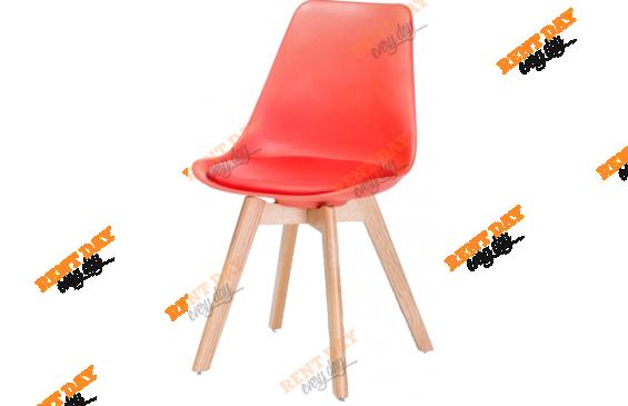 WOOD RED / Красный дизайнерский стул в аренду