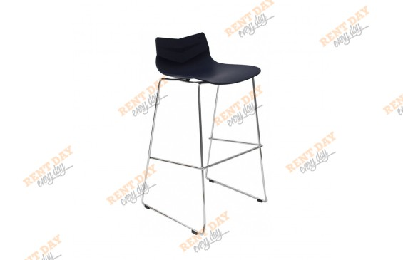 Барный стул  LEAF BLACK  в аренду