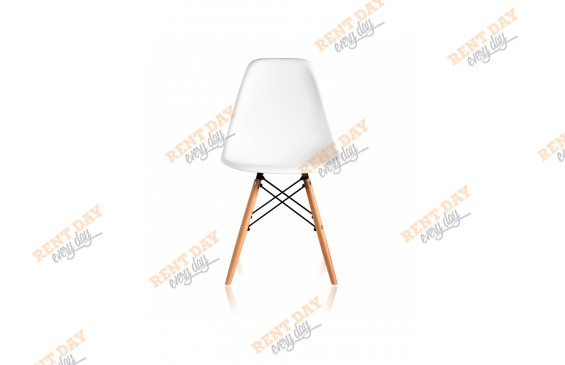 Стул WOOD EAMES WHITE в аренду
